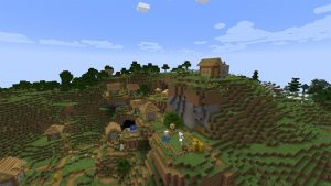 A village on the top of a mountain