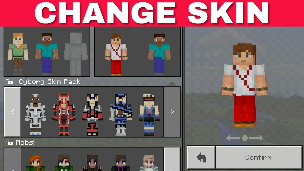Learn Minecraft: how to install the skin